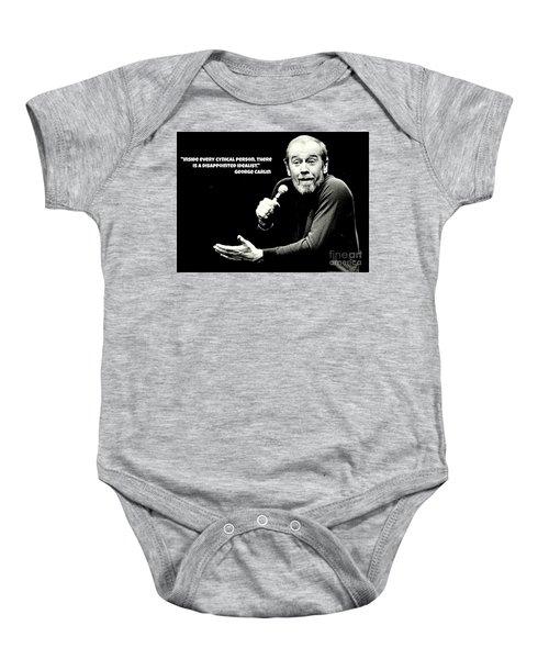 George Carlin Art  Baby Onesie by Pd