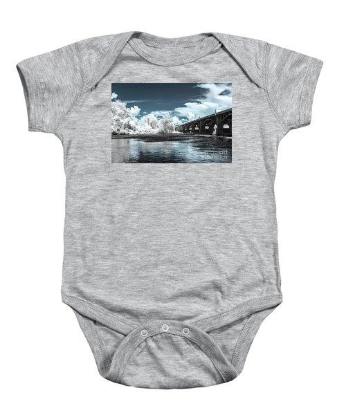 Gervais St. Bridge-infrared Baby Onesie