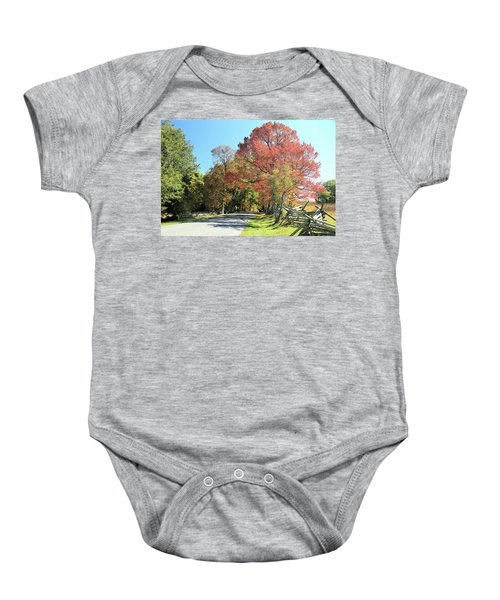 Gettysburg  In The  Fall Baby Onesie