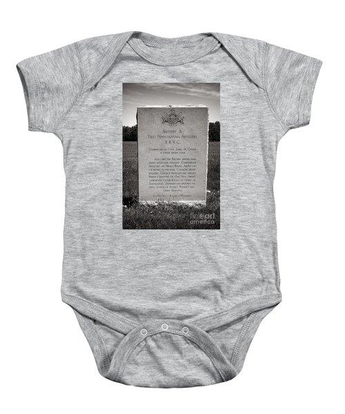 Gettysburg National Park First Pennsylvania Artillery Monument Baby Onesie