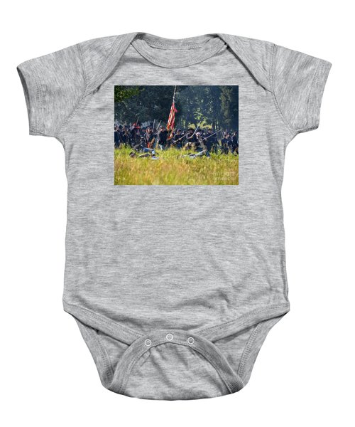 Gettysburg Union Infantry 9348c Baby Onesie