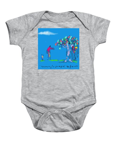 Giant, Boy, And Doorway Baby Onesie