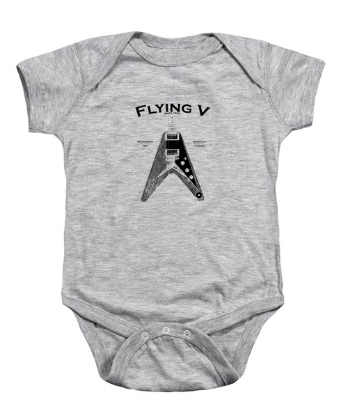 Gibson Flying V Baby Onesie