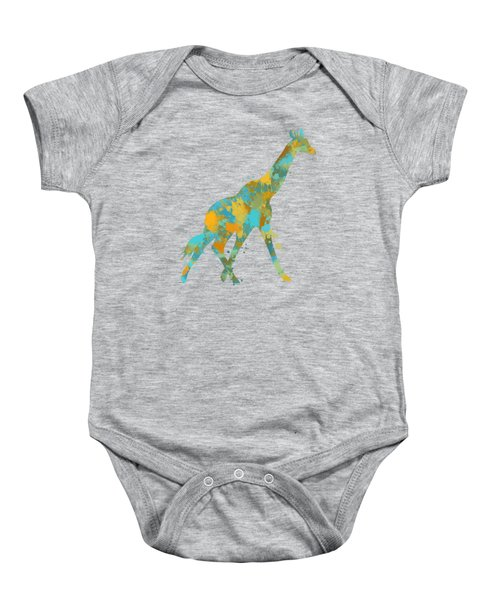 Giraffe Watercolor Art Baby Onesie by Christina Rollo