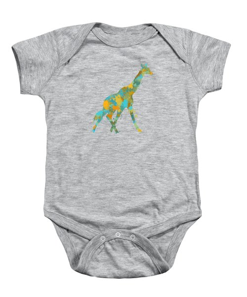 Giraffe Watercolor Art Baby Onesie