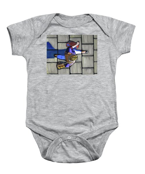 Girl Overhead Walking Baby Onesie