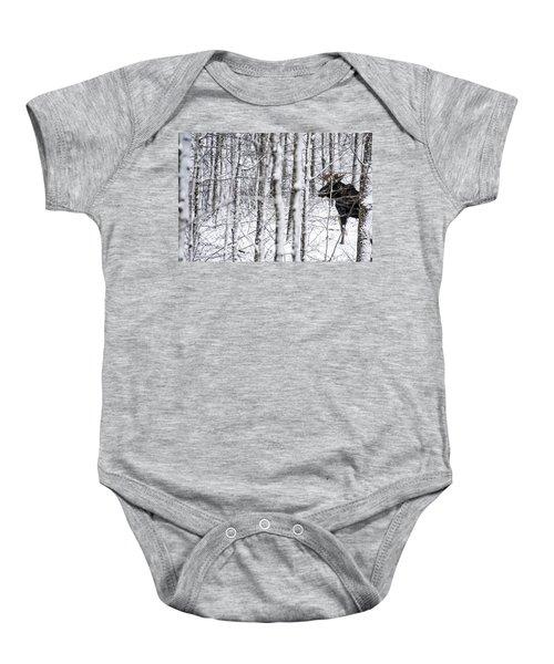 Glimpse Of Bull Moose Baby Onesie