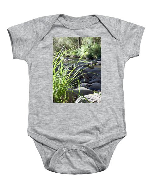 Baby Onesie featuring the photograph Glistening In The Sunlight by Linda Lees