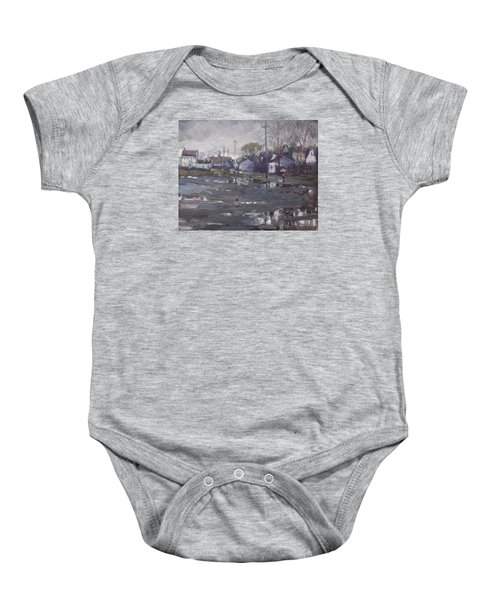 Gloomy And Rainy Day By Hyde Park Baby Onesie by Ylli Haruni
