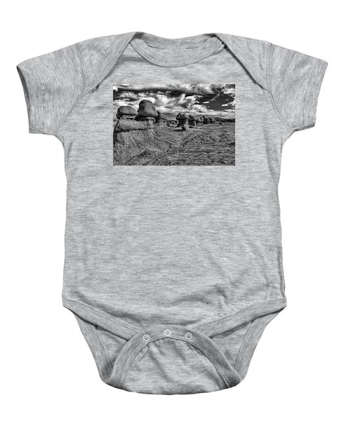 Goblins All In A Row Baby Onesie