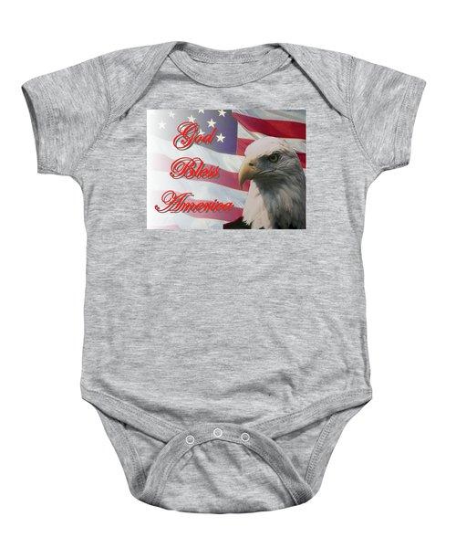 God Bless America Baby Onesie