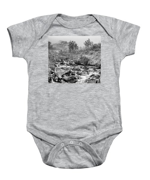 Gold Rush Mining Shack In The Alaskan Mountains Baby Onesie