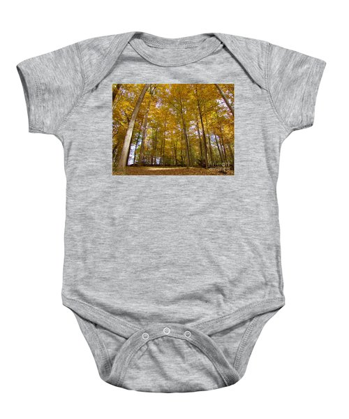 Golden Canopy Baby Onesie