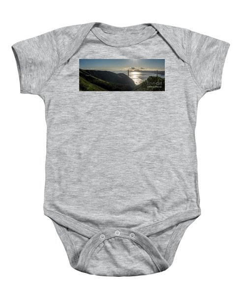 Golden Gate Bridge From The Road Up The Mountain Baby Onesie