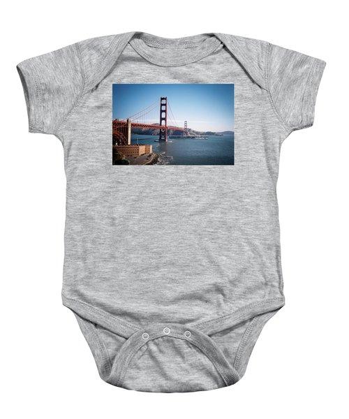Golden Gate Bridge With Aircraft Carrier Baby Onesie