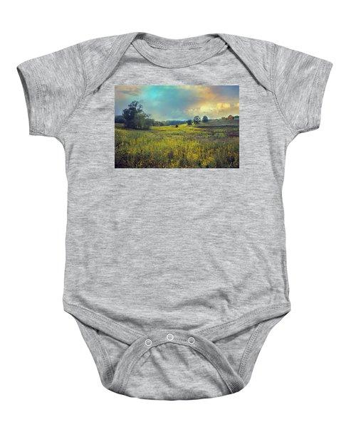 Golden Meadows Baby Onesie