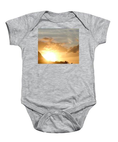 Golden Oahu Sunset Baby Onesie