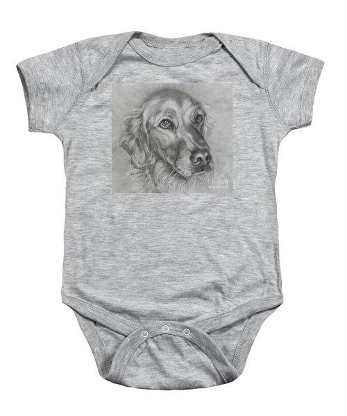 Golden Retriever Drawing Baby Onesie