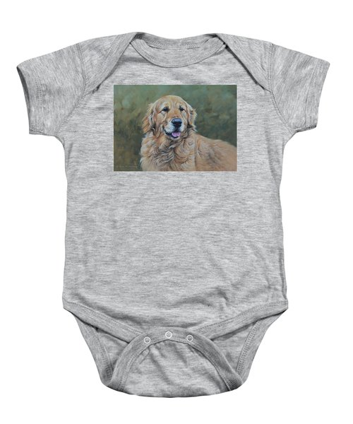 Golden Retriever Portrait Baby Onesie