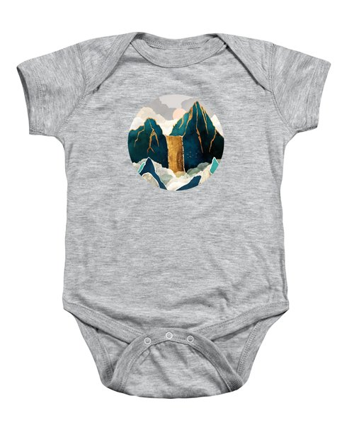 Golden Waterfall Baby Onesie