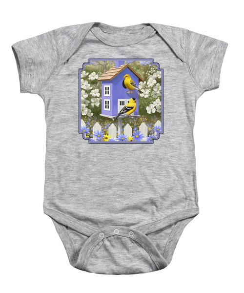 Goldfinch Garden Home Baby Onesie by Crista Forest