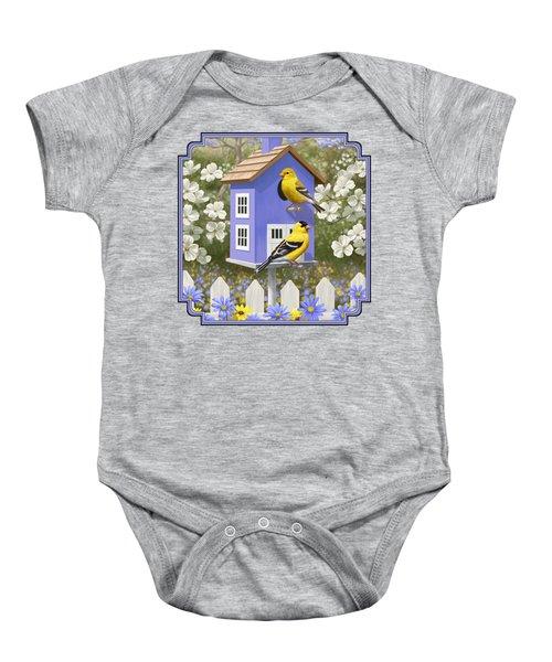 Goldfinch Garden Home Baby Onesie