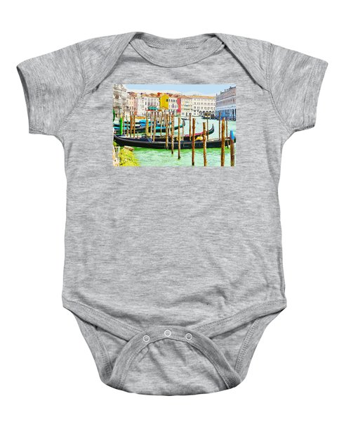 Gondolas On The Grand Canal Venice Italy Baby Onesie