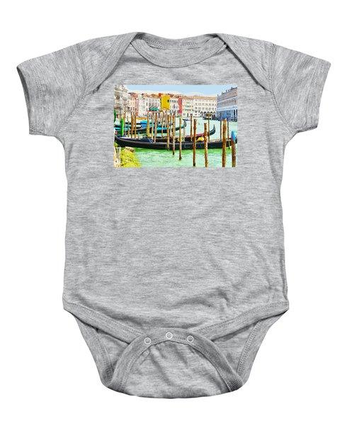 Gondolas On The Grand Canal Venice Italy Baby Onesie