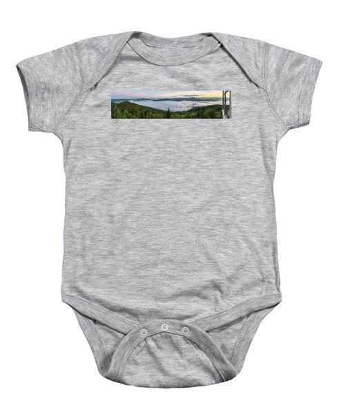 Goodnow Mountain Panorama Baby Onesie