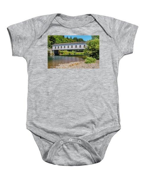 Goodpasture Covered Bridge Baby Onesie