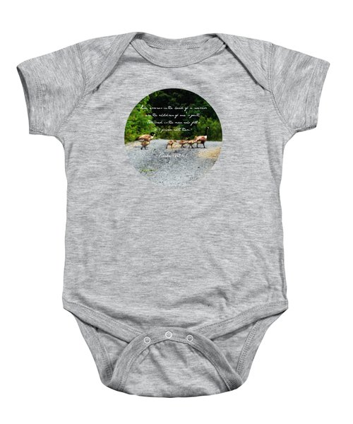 Goose Family - Verse Baby Onesie by Anita Faye