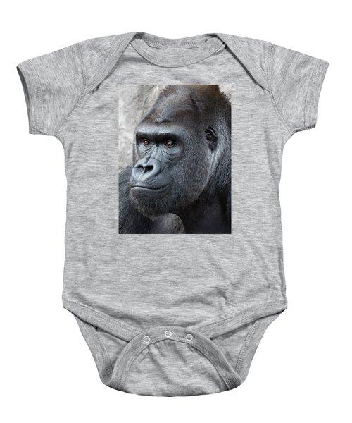 Gorillas In The Mist Baby Onesie