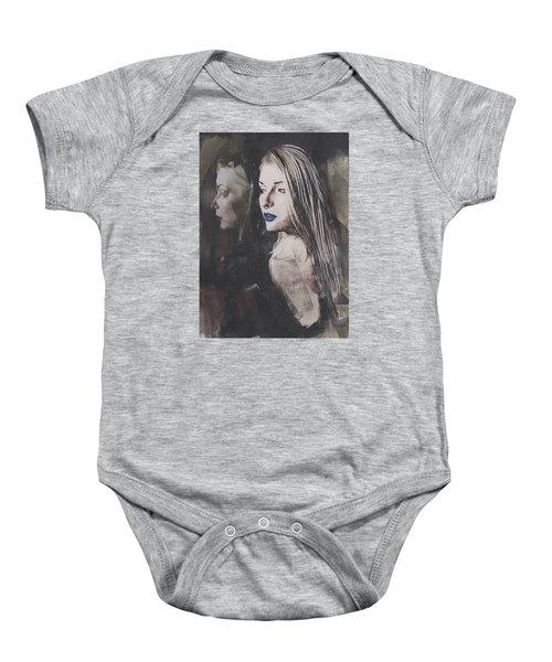 Gothic Mirror Echo Baby Onesie