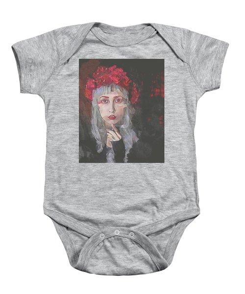 Gothic Petal Baby Onesie