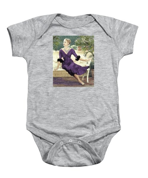 Grace Kelly Draw Baby Onesie by Quim Abella