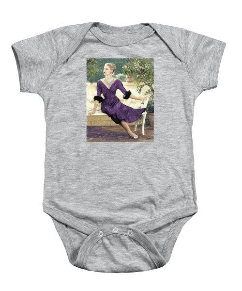 Grace Kelly Draw Baby Onesie
