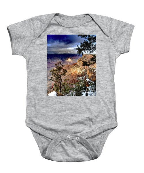 Grand Canyon In Winter Baby Onesie