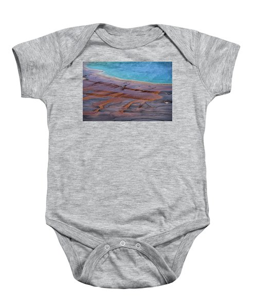 Baby Onesie featuring the photograph Grand Prismatic Spring Detail by Jennifer Ancker