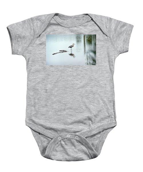 Great Blue Heron On Chesapeake Bay Pond Baby Onesie