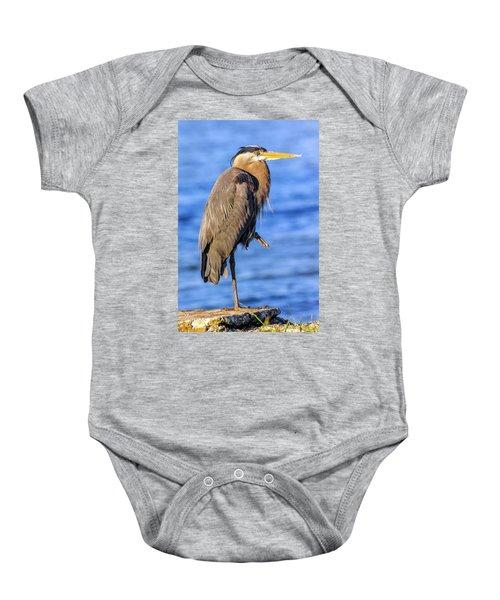 Great Blue Heron On The Chesapeake Bay Baby Onesie