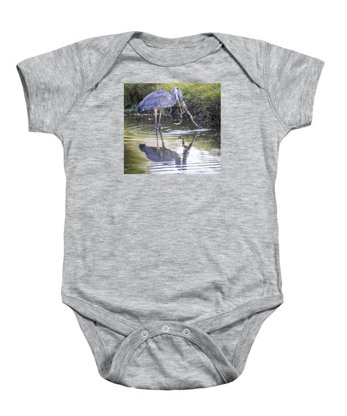 Great Blue Heron Vs Huge Frog Baby Onesie