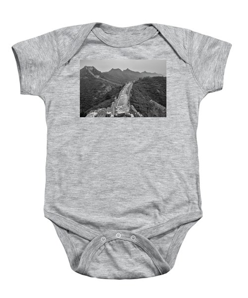 Baby Onesie featuring the photograph Great Wall 6, Jinshanling, 2016 by Hitendra SINKAR