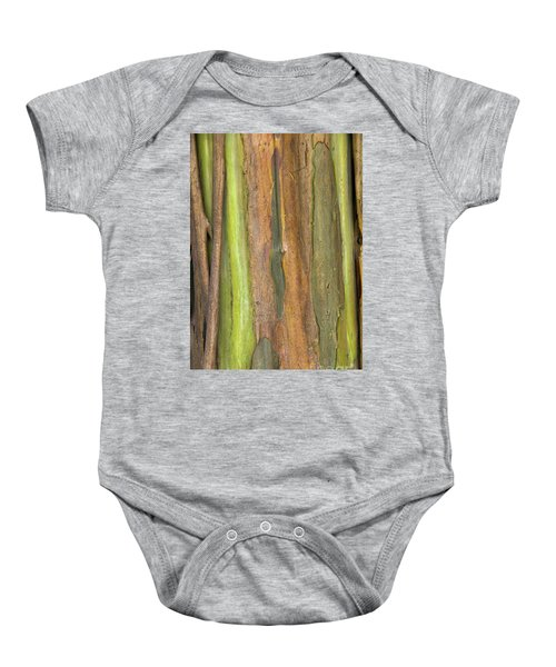 Baby Onesie featuring the photograph Green Bark 3 by Werner Padarin