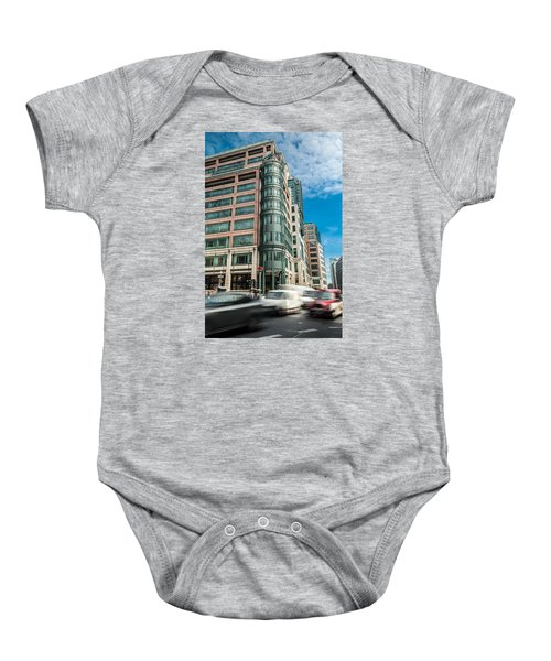 Green Building On Liverpool Metro Station London Baby Onesie