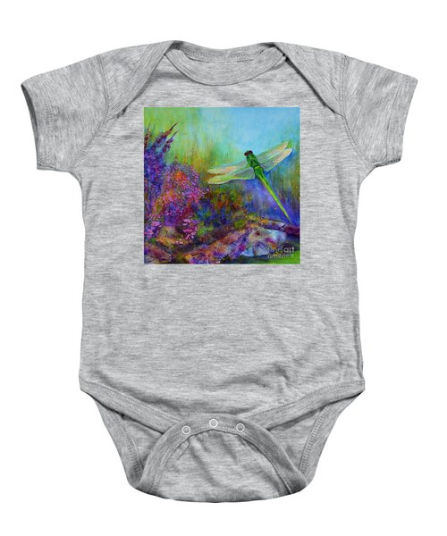 Green Dragonfly Baby Onesie