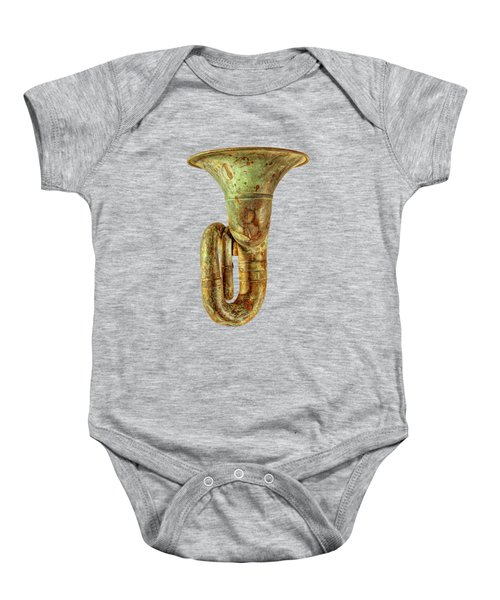 Green Horn Up On Black Baby Onesie