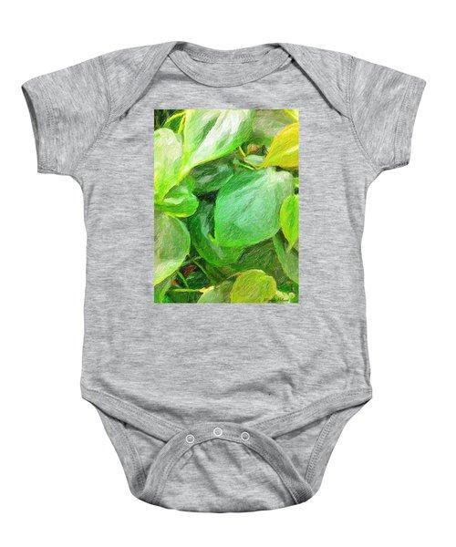 Green Leaves Baby Onesie