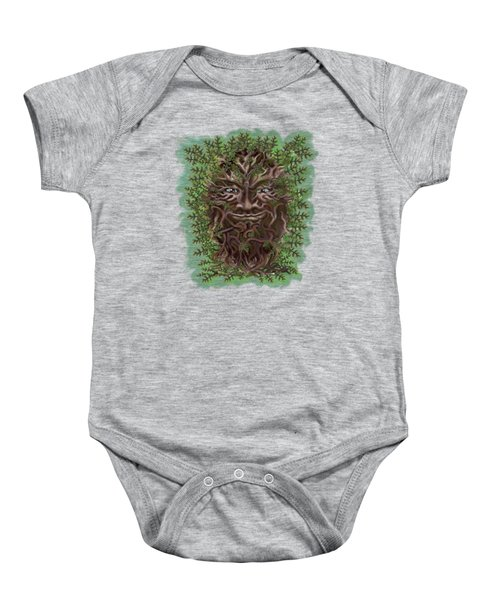 Green Man Of The Forest Baby Onesie