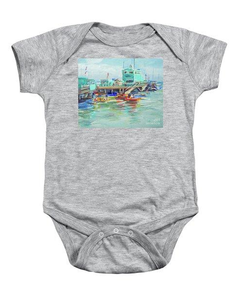 Green Pier On A Summer Da Baby Onesie