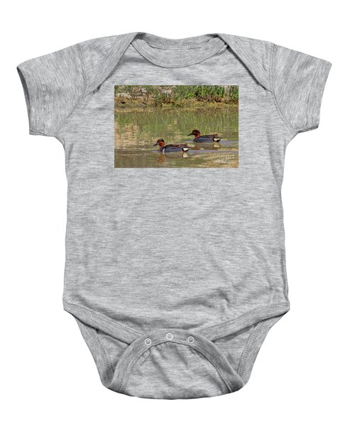 Green Winged Teal Baby Onesie